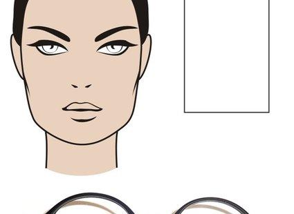 okulary dla twarzy prostokątnej/podłużnej