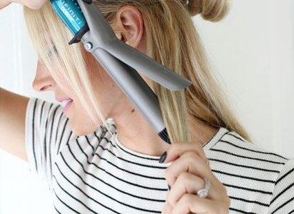 fale na włosach - krok 2