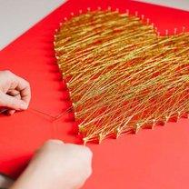 Jak zrobić serce ze sznureczków krok 5