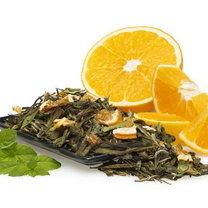 zielona herbata z pomarańczą