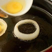 Jajka w krążkach cebuli