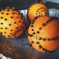 pomarańcze z goździkami