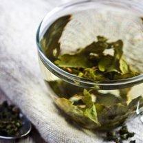 zielona herbata odciski