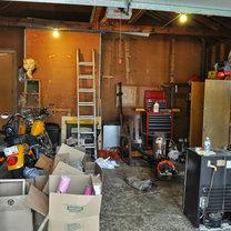 bałagan w garazu