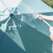 Jak wyczyścić parasol ogrodowy krok 3