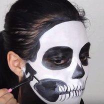 szkielet makijaż