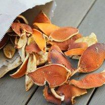 rozpałka ze skórki pomarańczy
