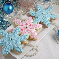ciasteczka w kształcie płatków śniegu