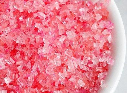 różowy cukier