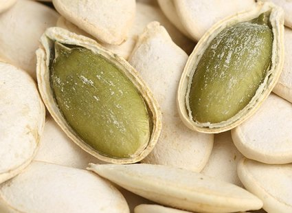 Pieczone nasiona dyni z cynamonem