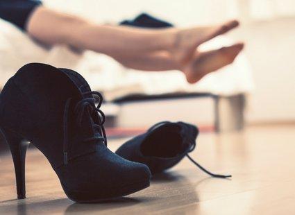 Ciasne buty krok 1