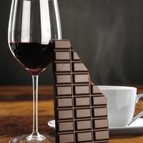 czekolada i wino