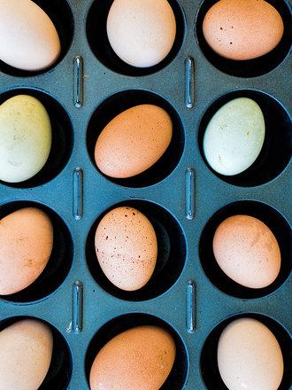 pieczone jajka
